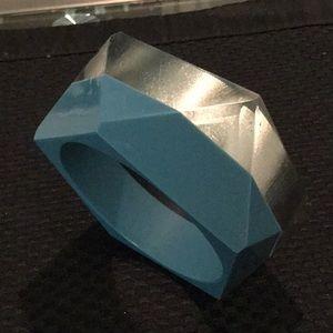 Jewelry - Blue & Silver Resin Bracelet